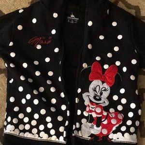 Black zippered hoodie with Minnie size medium